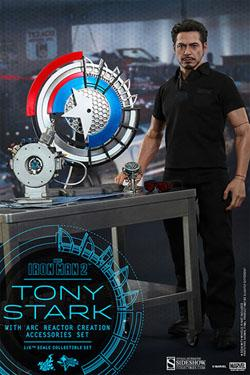 Iron Man 2 Movie Masterpiece Actionfigur 1/6 Tony Stark with Arc Reactor Creation Accessories 30 cm